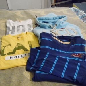 Hollister tees, pullover hoodie size L